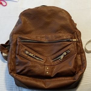 Backpack pleather purse